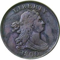 1800 Draped Bust Half Cent