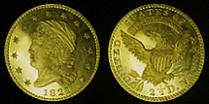 1821 Capped Head Left Large Size Quarter Eagle