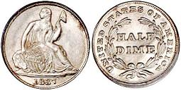 1837 Liberty Seated Half Dime