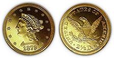 1879 Liberty Head Quarter Eagle