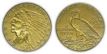 1913 Indian Head Quarter Eagle