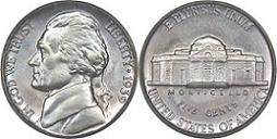 1939 Jefferson Nickel