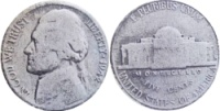1942 Jefferson Nickel with the Reverse of a 1941-S
