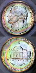 1943 S Jefferson Wartime Nickel