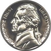 1958 Jefferson Nickel Proof