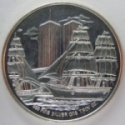 1986 Ellis Island One Ounce Silver Round