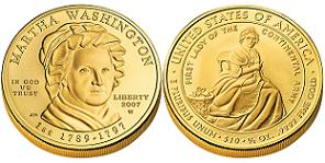 2007 First Spouse Gold Coin - Martha Washington