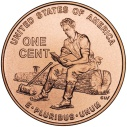 2009 Lincoln Cent Formative Years in Indiana Reverse