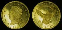 1821 Capped Head Left Large Size Quarter Eagle