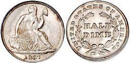 1837 Liberty Seated Half Dime