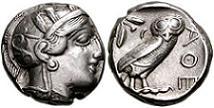 449-404 BC Ancient Athens Silver Tetradrachm