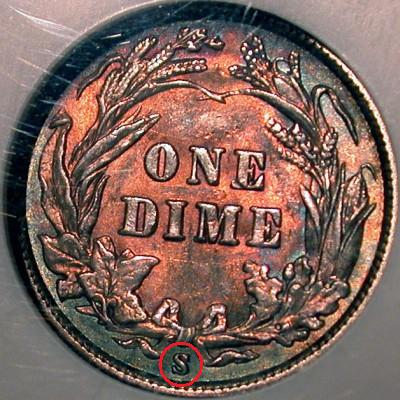 Locating a Mint Mark on Coins