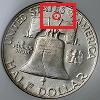 Franklin Half Dollar Mintmark