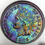 Indian Head Cent with Toning