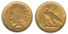 Indian Head Eagle - No Motto