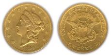 Liberty Head $20 Double Eagle - no motto