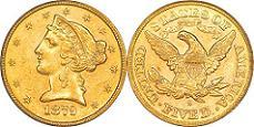 Liberty Head Half Eagle - With Motto
