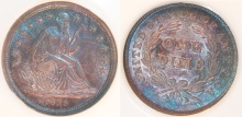 Liberty Seated Dime - No Drapery From Elbow