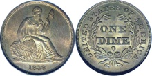 Liberty Seated Dime - No Stars