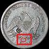 Liberty Seated Dollar Mintmark