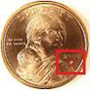 Sacagawea Dollar Mintmark