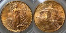 Saint-Gaudens Gold $20 Double Eagle - No Motto