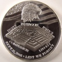 2001 September 11 Pentagon 1 ounce Silver Round