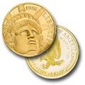 1986 W Statue of Liberty Commemorative Gold Five Dollar
