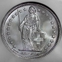 Swiss Silver 2 Francs