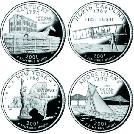 US Quarters - Rare us state quarters