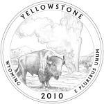 2010 Wyoming Quarter - Yellowstone National Park