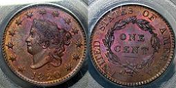 1820 Matron Head Large Cent