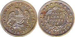 1837 Half Cent Token