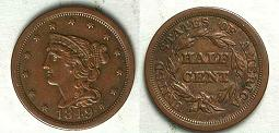 1849 Braided Hair Half Cent