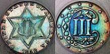 1858 Three Cent Silver Type 2