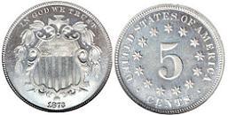 1873 Shield Nickel