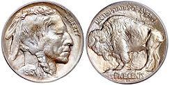 1913 Buffalo Nickel type 1 variety