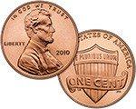 2010 Lincoln Cent Shield Reverse