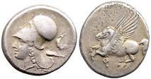 Ancient Greek Coin 345-307 BC Corinth Silver Stater