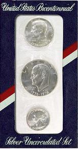 1976 Bicentennial Uncirculated Silver Set