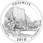 2010 California Quarter - Yosemite National Park