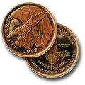1987 W Constitution Bicentennial Commemorative Gold Five Dollar