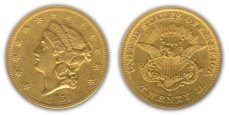 Liberty Head $20 Double Eagle - no motto