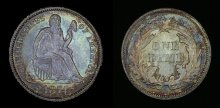 Liberty Seated Dime - Arrows at Date (1873-74)