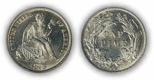 Liberty Seated Dime - Legend on Obverse
