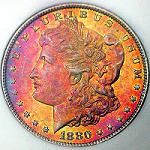 Morgan Silver Dollar with Toning