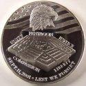 2001 September 11 Pentagon 1 ounce Silver Round