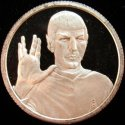 Star Trek 'Spock' One Ounce Silver Round