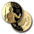 (1993) 1991-1995 W World War II Commemorative Gold Five Dollar