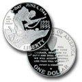 (1993) 1991-1995 W World War II Commemorative Silver Dollar